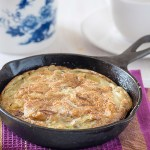 Spanish omelette is just an English name for a traditional Spanish dish called as tortilla española, tortilla de patatas or tortilla de papas. It is an omelet made with eggs and potatoes but sometimes onion or garlic is also used.