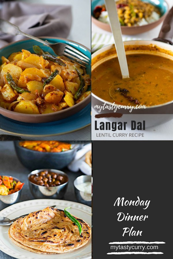 Indian Meal Plan with recipes for a week. Day wise weekly Indian Meal plan with recipes, grocery list and meal prep tips for everyday dinner under 30 minute.