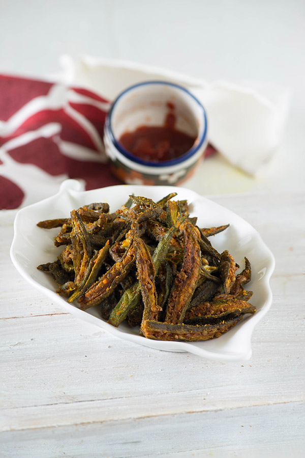How to make Kurkuri bhindi, step by step Kurkuri Bhindi recipe video in hindi, How to make bhindi fry, Crispy fried okra recipe, Kurkuri bhindi non fried