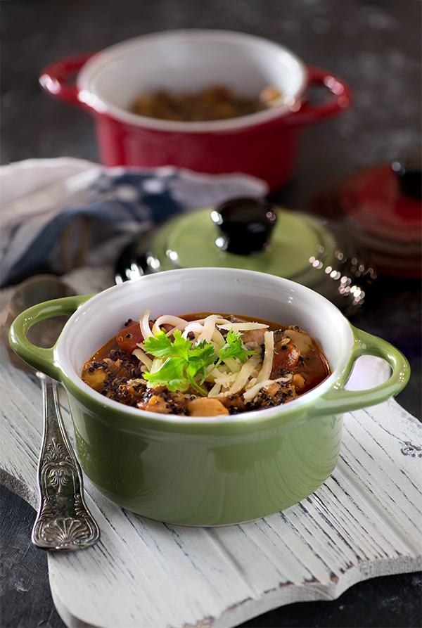 Veggie and Quinoa soup with power packed nutrition and hearty taste is perfect soup to cook and enjoy this winter. It is an instant pot soup recipe which can be cooked in pressure cooker too. It is gluten free and suitable for vegan diet if you skip the cheddar cheese.