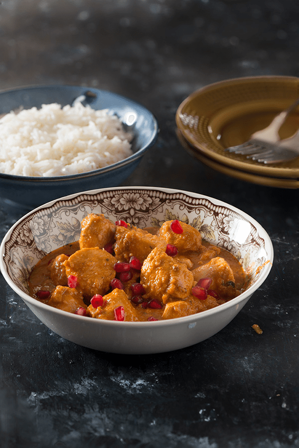 Persian chicken or fasenjan is classic Persian dish. Served with saffron rice or steamed basmati rice this is a perfect combination for Dinner or an indulgent Lunch.