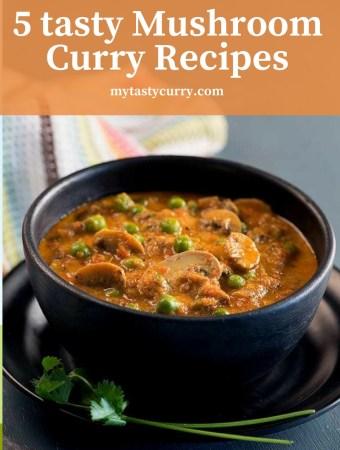 tasty mushroom sabzi and curry recipe