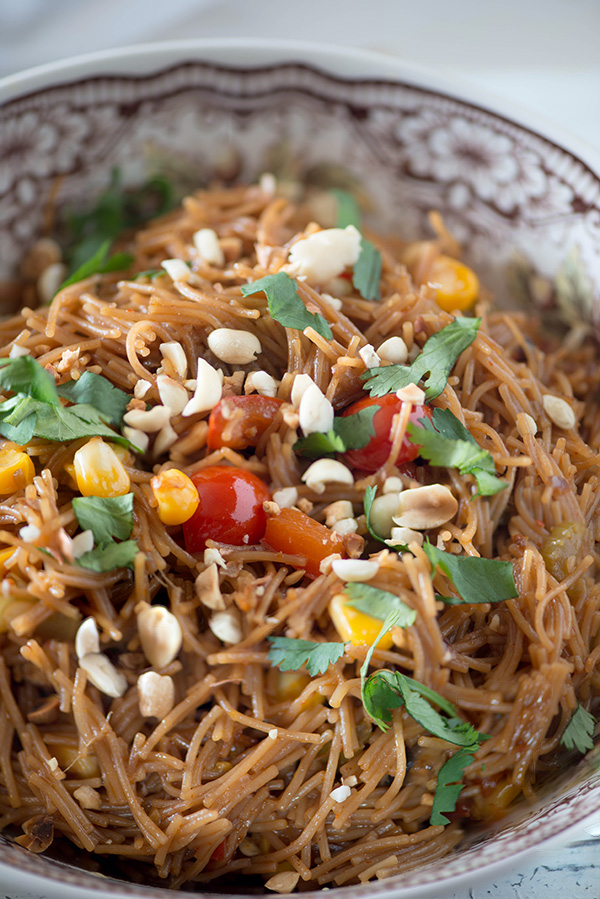 Asian Vermicelli noodle bowls for breakfast. It's a 20 Minutes Recipe of delicious breakfast which is healthy, vegetarian, vegan and very flavourful. It is Made with wheat vermicelli