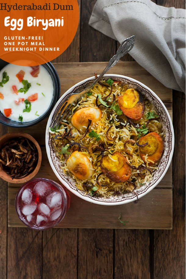 egg dum biryani, an easy one pot dinner. Aromatic rice and spicy eggs make a great combination. #indianfood #biryani #tasty #healthy
