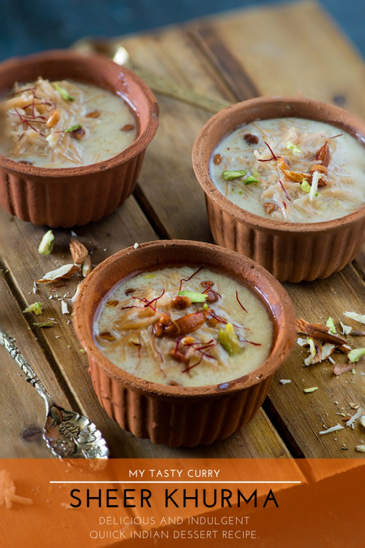 Sheer khurma, also known as sheer korma is a traditional and rich Mughlai dessert from Hyderabad. A festive dessert which is specially prepared on Eid-ul-Fitr and in the month of Ramadan for Iftar. This easy Sheer Khurma recipe hardly requires 30 minutes and a deliciously decadent dessert is ready to be served on your table#30minutes #DESSERT #authentic #indiandessert by @rekhakakkar