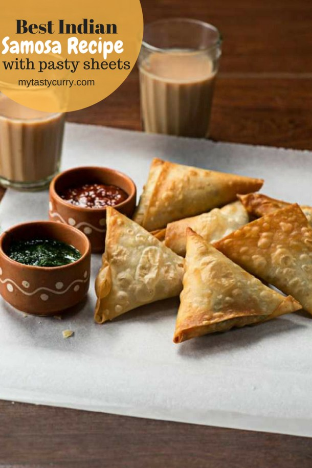 Best Indian samosa recipe using pastry sheet. Punjabi samosa recipe, a popular Indian snack. #indianfood #samosa #snack #teatimesnack