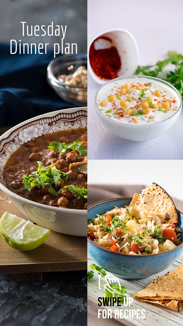 everyday Indian meal plan for Thursday