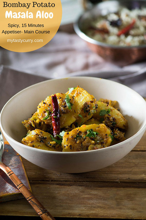 The spicy Masala Aloo is packet full of rich aromatic spices. This  spicy dish is a great choice for an appetizer, main course  tea-time snack recipe.