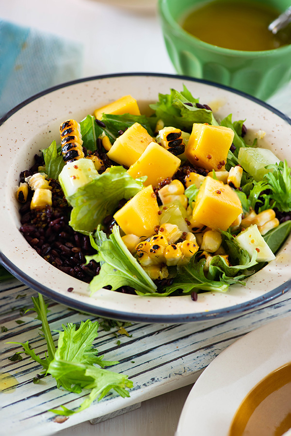 How to cook black rice - salad