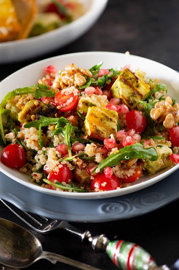 Paneer Tikka Quinoa Salad - My Tasty Curry