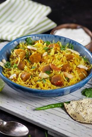 Marwari gatte Ka pulao - My Tasty Curry