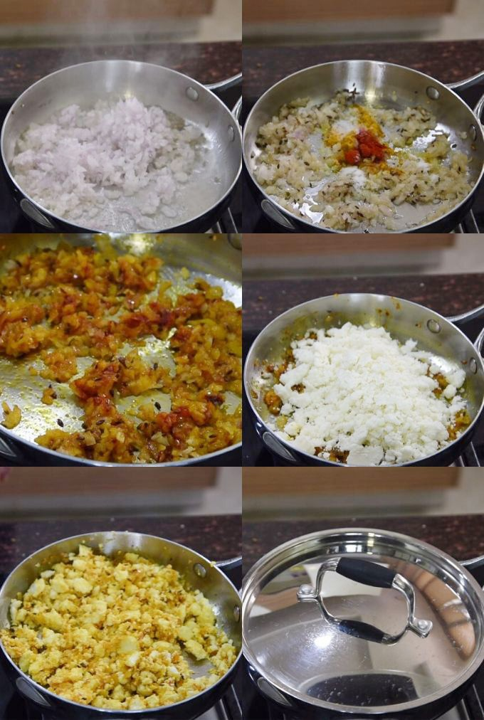 paneer bhurji recipe step by step
