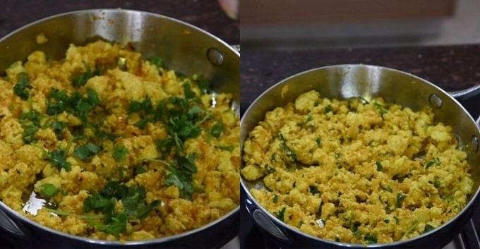 paneer bhurji recipe step by step pictures