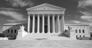 US Supreme Court black and white