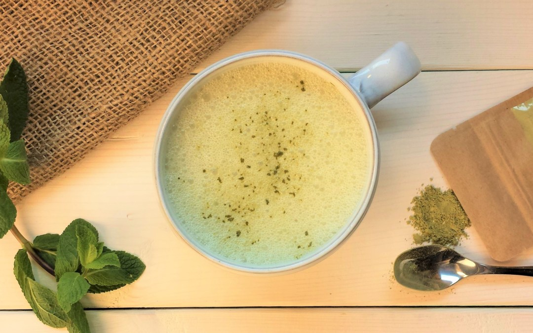 Make a peppermint matcha latte