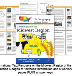 Regions of the U.S. - Midwest Region - Informational Text and Worksheets -  My Teaching Library   CHSH-Teach LLC [ 789 x 1024 Pixel ]