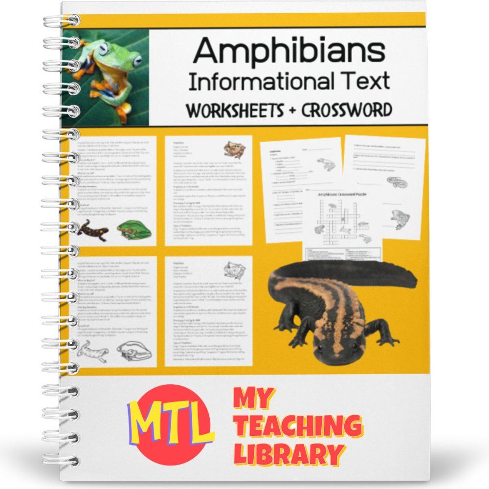 medium resolution of Learning About Amphibians   Informational Text - Worksheets - Crossword  Puzzle - My Teaching Library   CHSH-Teach LLC