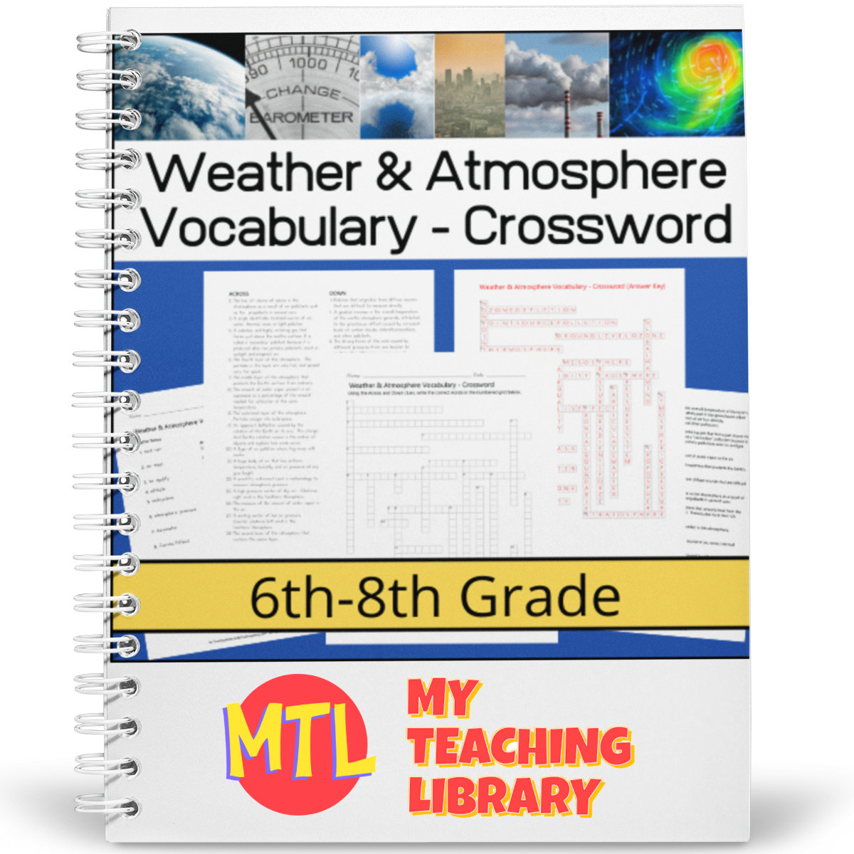 Weather And Atmosphere Vocabulary Crossword Puzzle