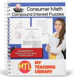 Consumer Math   Compound Interest Puzzles - My Teaching Library    CHSH-Teach LLC [ 1200 x 1200 Pixel ]