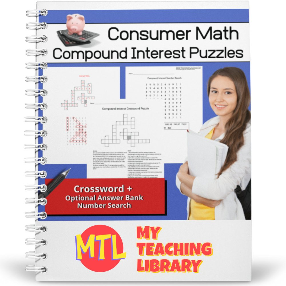 medium resolution of Consumer Math   Compound Interest Puzzles - My Teaching Library    CHSH-Teach LLC