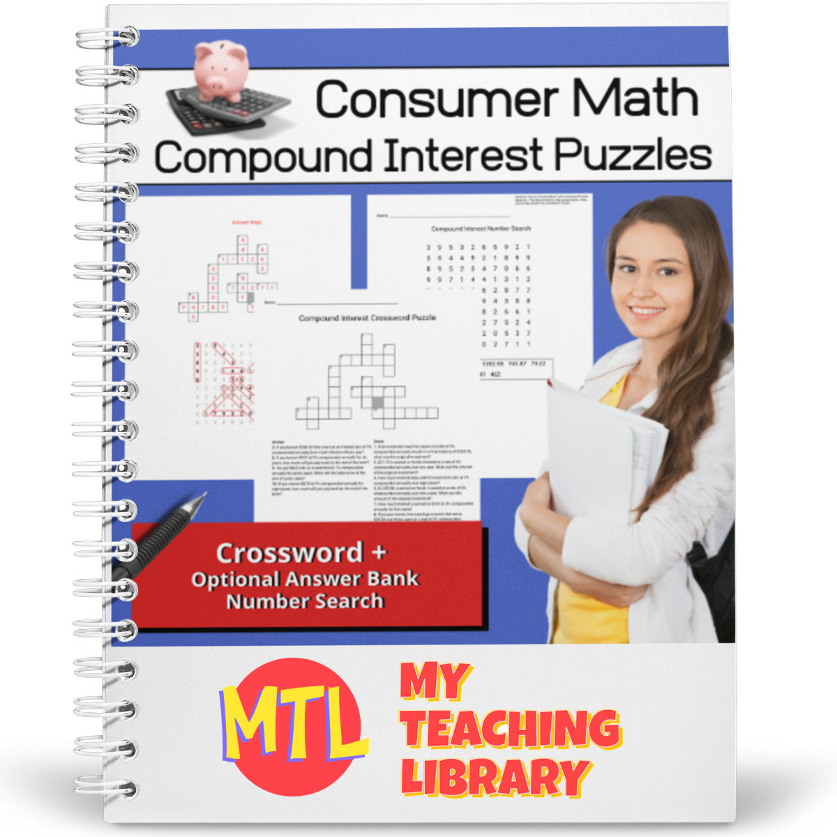 hight resolution of Consumer Math   Compound Interest Puzzles - My Teaching Library    CHSH-Teach LLC