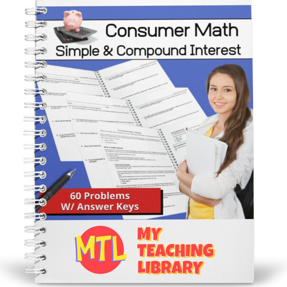 medium resolution of Consumer Math   Simple and Compound Interest Word Problems - My Teaching  Library   CHSH-Teach LLC