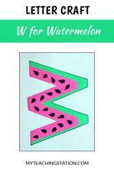 letter watermelon craft preschool week activities activity simple children kindergarten easy myteachingstation web learning
