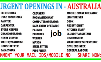 Australia hiring 200 various position Job 2021
