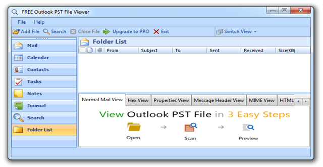 Review] Free PST Viewer to Open & View Outlook PST file