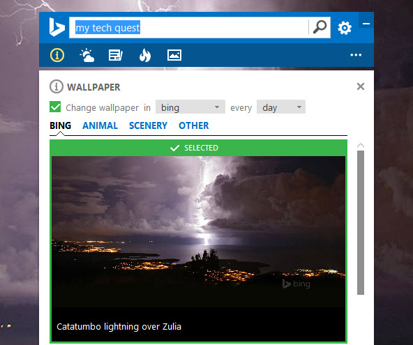 Set Bing Daily Image As Desktop Wallpaper In Windows 10