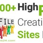 100+ Best High PR Profile Creation Sites List 2017