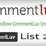 150+ High PR Dofollow CommentLuv Enabled Blogs List 2017