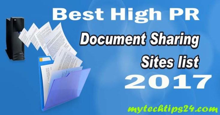 Best Document Sharing Sites List 2019 – High PR