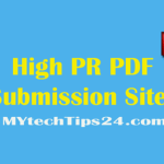 Top best high PR PDF submission sites list