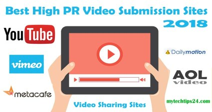 Top 10 Best High PR Video Submission Sites 2021