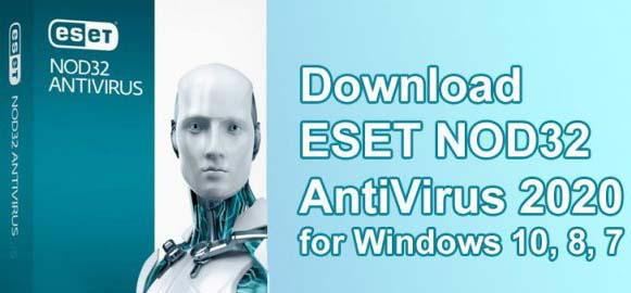 ESET NOD32 AntiVirus 2020 Free Download for Windows 10, 8, 7