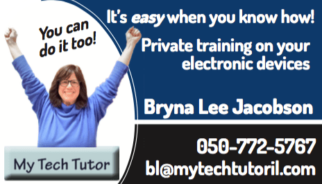 My Tech Tutor business card