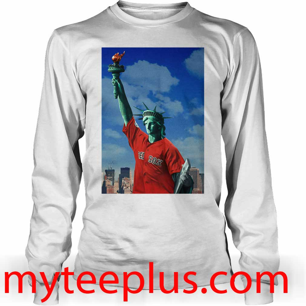 Red Sox Statue of liberty Long sleeve
