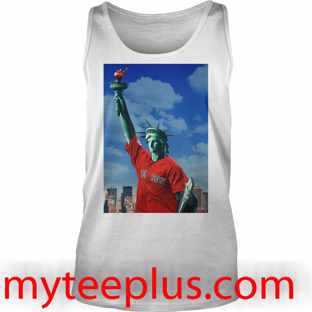 Red Sox Statue of liberty Tank top