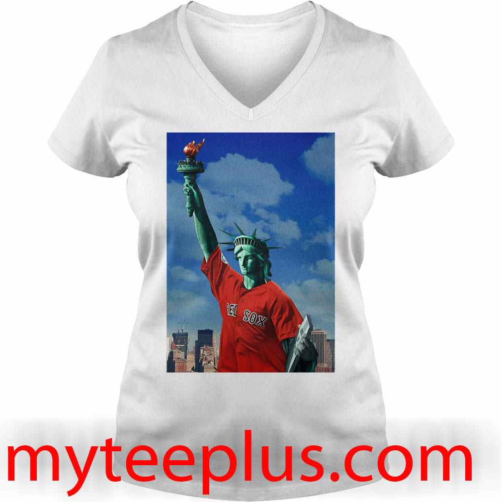 Red Sox Statue of liberty V-neck