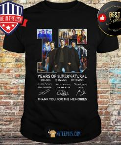 15 Years Of Supernatural Thank You For The Memories Signature shirt