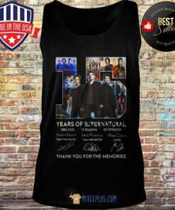 15 Years Of Supernatural Thank You For The Memories Signature tank top