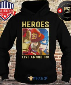 Heroes Live Among Us Iron Man Fireman and Captain America s Hoodie
