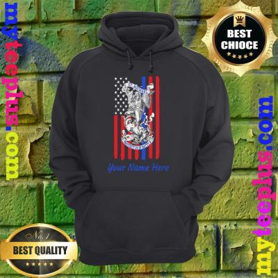 Personalized Patriotic St Michael The Archangel Prayer Flag Adult hoodie