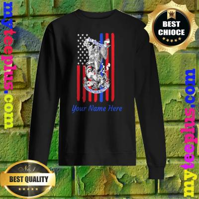 Personalized Patriotic St Michael The Archangel Prayer Flag Adult sweatshirt