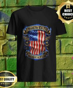 I Stand For the Flag, I Kneel To Pray United We Stand USA Flag T-Shirt