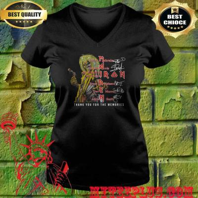 Maiden iron thank you for the memories band members signatures v neck