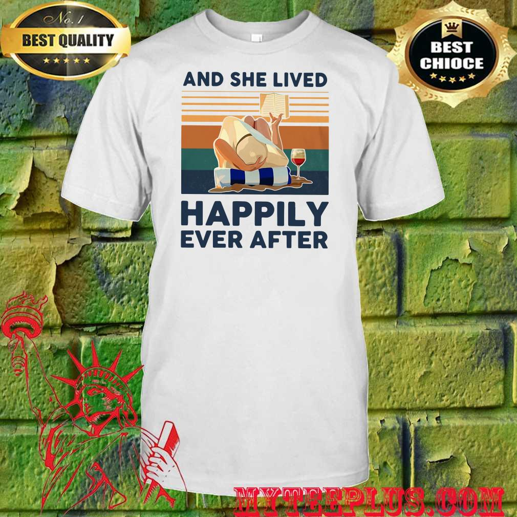Ocean and she lived happily ever after shirt
