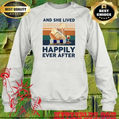 Ocean and she lived happily ever after sweatshirt