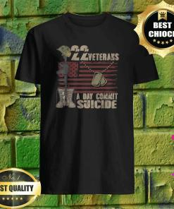 22 Veteran Suicide Awareness Veteran Lives Matter T-Shirt